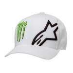 Alpinestars Flexfit Hat Corp White Monster MX Collection