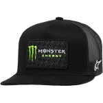 Alpinestars Trucker Hat Champ Black-Black Monster MX Collection