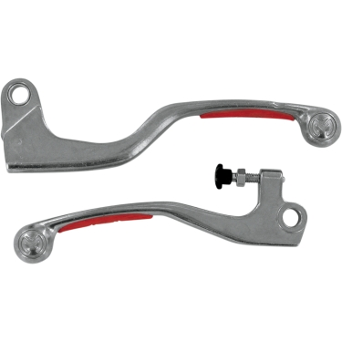 Moose Racing Competition Lever Set Honda CR 125R 05-07, 250 04-07, CRF 250R 04-06, X 04-18, 450R 04-06, X 05-18 red