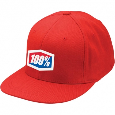100% Flexfit Hat Essential F-Fit Red 2018