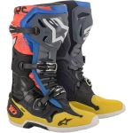 Alpinestars Tech 10 Boots Black-Yellow-Blue-Red Fluo 2020
