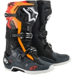 Alpinestars Tech 10 Boots Black-Gray-Orange-Red Fluo 2021