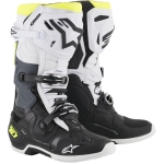 Alpinestars Tech 10 Boots Black-White-Yellow Fluo 2021