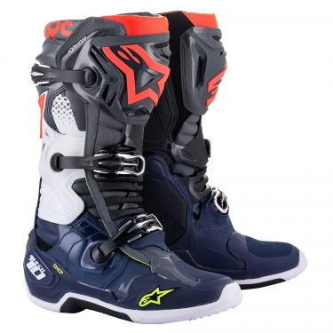 Alpinestars Tech 10 Boots Dark Gray-Dark Blue-Red 2021