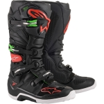 Alpinestars Tech 7 Boots Black-Red-Green 2020-2021