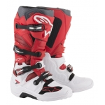 Alpinestars Tech 7 Boots White-Red-Burgundy 2019-2021
