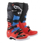Alpinestars New Tech 7 Stiefel Red-Cyan-Gray-Black 2018