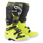 Alpinestars Tech 7 Boots Yellow Fluo-Military Green-Black 2019-2021