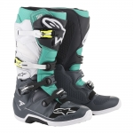 Alpinestars Tech 7 Boots Dark Gray-Teal-White 2019