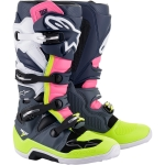 Alpinestars Tech 7 Boots Dark Gray-Dark Blue-Pink 2021