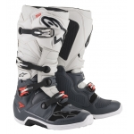 Alpinestars Tech 7 Boots Dark Gray-Light Gray-Red Fluo 2019-2021
