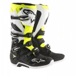 Alpinestars New Tech 7 Stiefel Black-White-Yellow Fluo