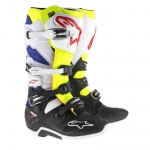 Alpinestars Tech 7 Boots White-Yellow Fluo-Blue 2017-2019 7 - D 40,5 # SALE