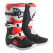 Alpinestars Youth Tech 3S Boots Black-White-Red Fluo Kids