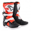 Alpinestars Youth Mini Tech 3S Boots Black-White-Red Fluo Kids