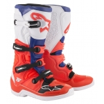 Alpinestars Tech 5 Boots Red Fluo-Blue-White 2019