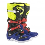 Alpinestars Tech 5 Boots Blue-Black-Yellow Fluo-Red 2018-2019