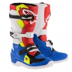 Alpinestars Youth Tech 7S Stiefel Blue-White-Red-Yellow Fluo Kids
