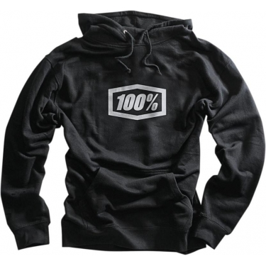 100% Essential Hoody Black