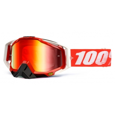 100% Racecraft Goggle Fire Red Mirror 2014