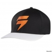 Shift Racing Barbolt Flexfit Hat Black-White 2015