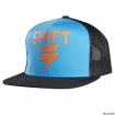 Shift Racing Washout Snapback Mesh Hat Black-Aqua 2015