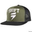 Shift Racing Washout Snapback Mesh Hat Black-Green 2015