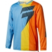 Shift Racing Youth Whit3 Label Shirt Tarmac Orange-Blue Kids 2018