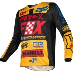 Fox Racing 180 Jersey Czar Black-Yellow L 2019 # SALE