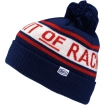 100% Beanie Aspect Pom Pom Blue-White-Red # SALE