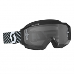 Scott Hustle MX LS Goggle black-white / light sensitive grey works 2019