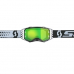 Scott Prospect Goggle black-white / green chrome works 2019