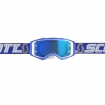Scott Prospect Goggle white-blue / electric blue chrome works 2019