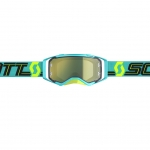 Scott Prospect Goggle blue-teal / yellow chrome works 2019