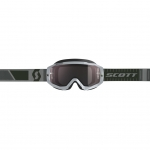 Scott Hustle MX Goggle grey / silver chrome works 2019
