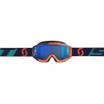 Scott Hustle MX Goggle orange-blue / electric blue chrome works 2019