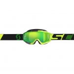 Scott Hustle MX Goggle yellow-green / green chrome works 2019