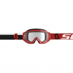 Scott Hustle X MX Goggle red-white / clear works 2019