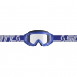 Scott Hustle X MX Goggle blue-white / clear works 2019