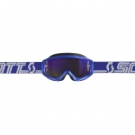 Scott Hustle X MX Goggle blue-white / purple chrome works 2019