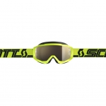 Scott Hustle X MX Goggle yellow-black / gold chrome works 2019