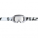 Scott Hustle X MX Goggle white-black / clear works 2019