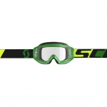 Scott Hustle X MX Goggle green-black / clear works 2019