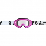 Scott Hustle X MX Goggle pink-black / clear works 2019