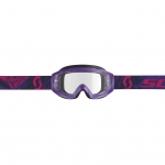 Scott Hustle X MX Goggle purple-pink / clear works 2019