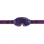 Scott Hustle X MX Goggle purple-pink / purple chrome works 2019