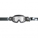 Scott Hustle X MX WFS Goggle black-white / clear works 2019