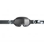 Scott Hustle X MX Enduro LS Goggle black-white / light sensitive grey 2019