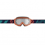 Scott Split OTG Enduro Goggle orange-blue / clear works 2019