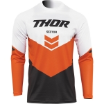 Thor Sector Jersey Chev Charcoal-Red Orange 2022
